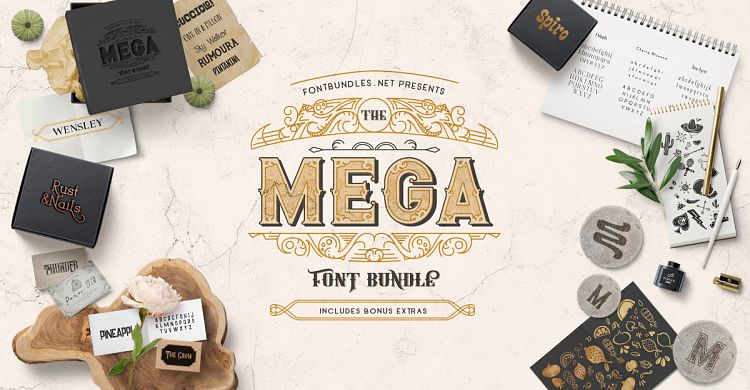 The Mega Font Bundle