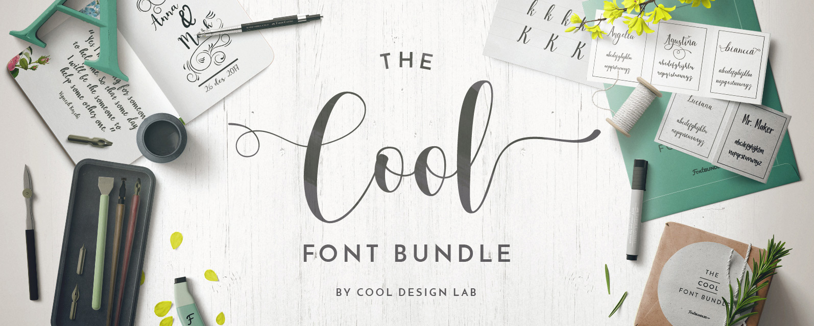 Cool Font Bundle Cover