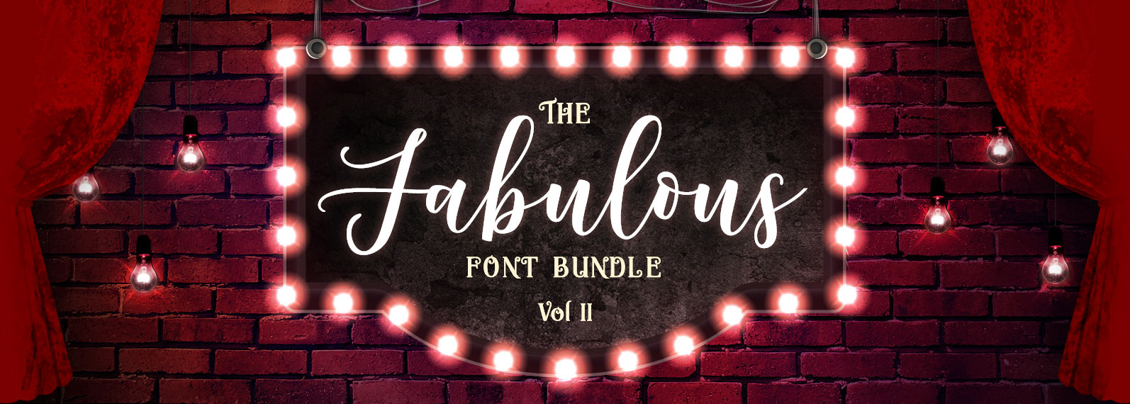 The Fabulous Font Bundle Volume II Cover