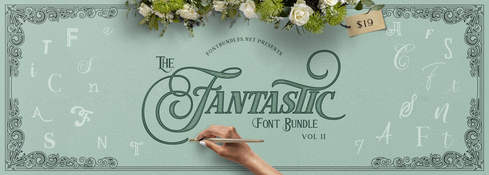 The Fantastic Font Bundle II Cover
