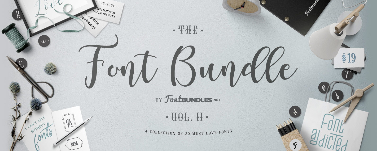 The Font Bundle Volume II Cover