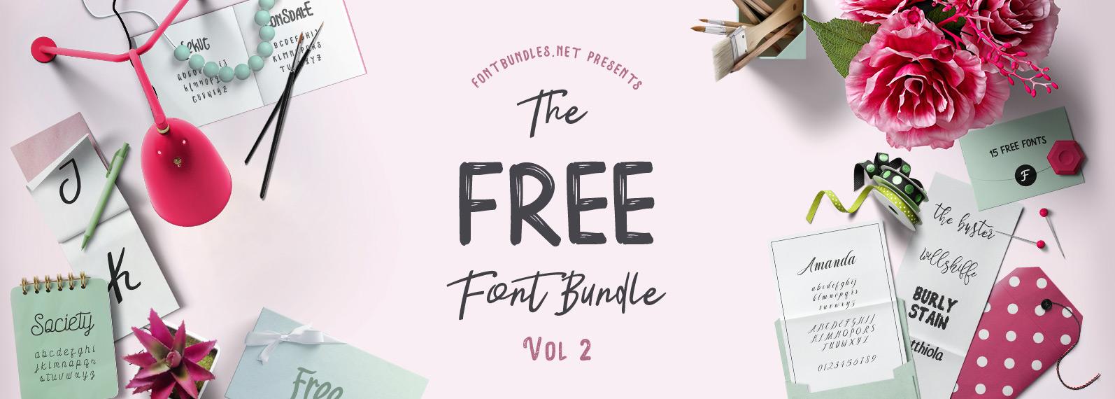 The Free Font Bundle Vol II Cover