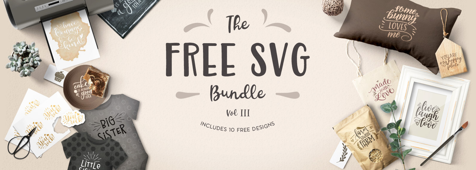 The Free SVG Bundle Volume III Cover