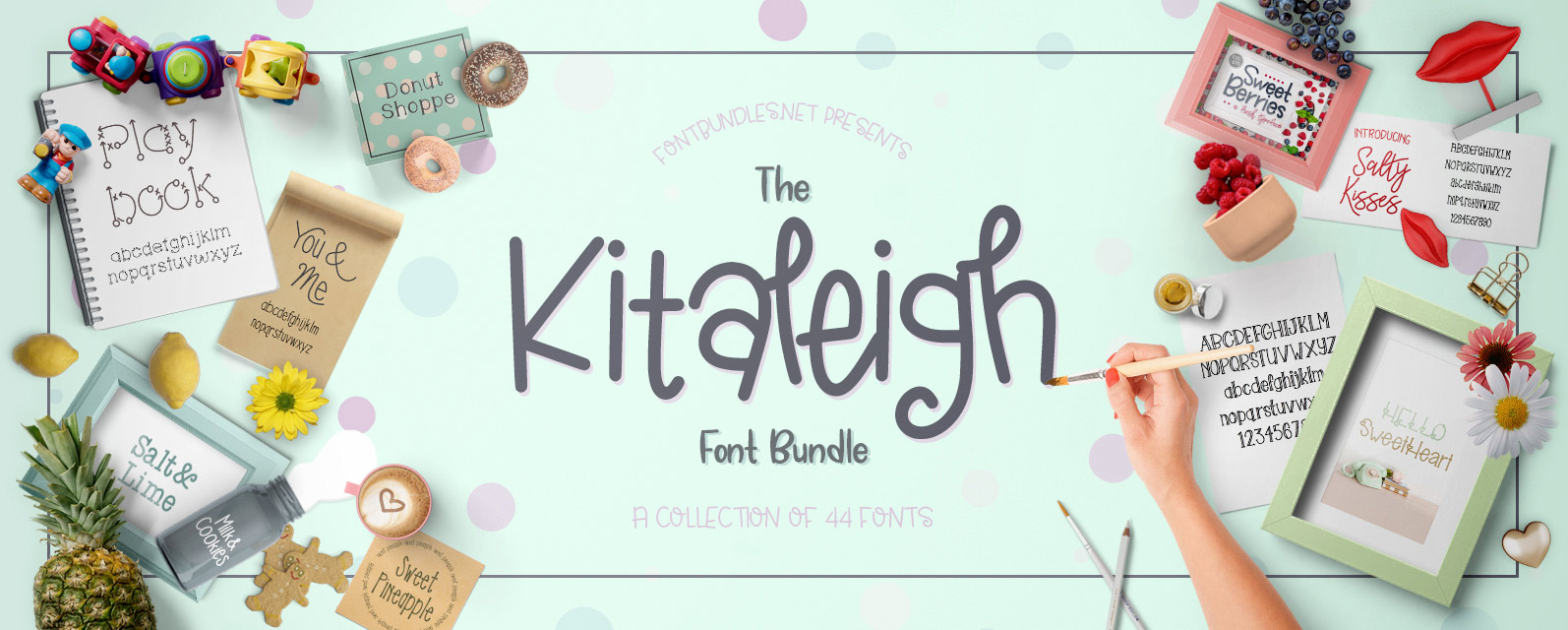 The Kitaleigh Font Bundle Cover
