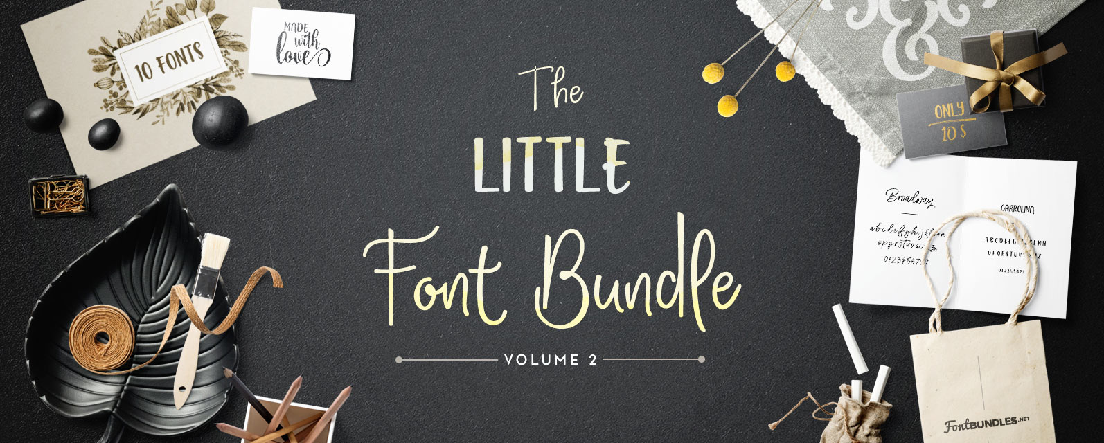 The Little Font Bundle Volume II Cover