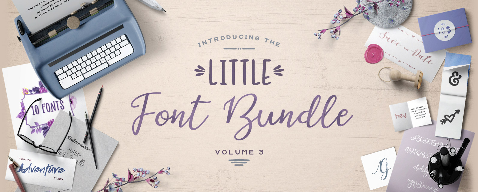 The Little Font Bundle Volume III Cover
