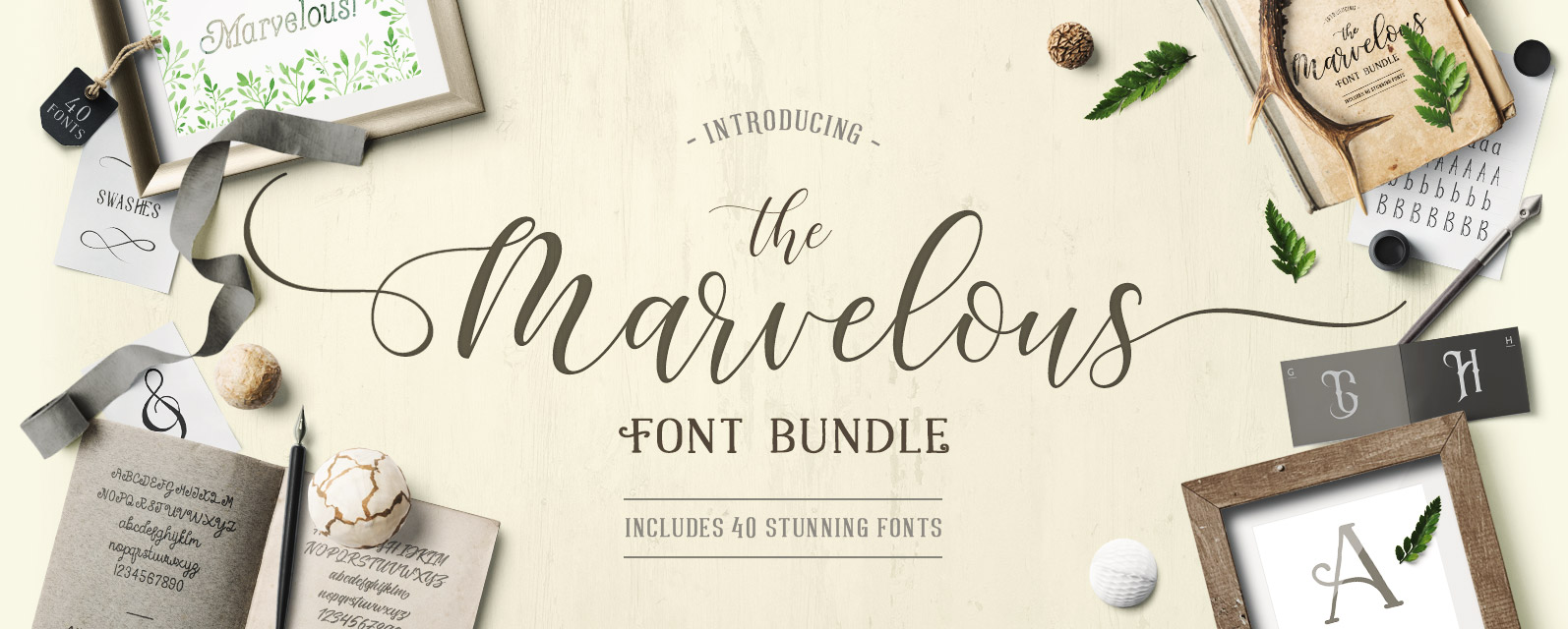 The Marvelous Font Bundle Cover