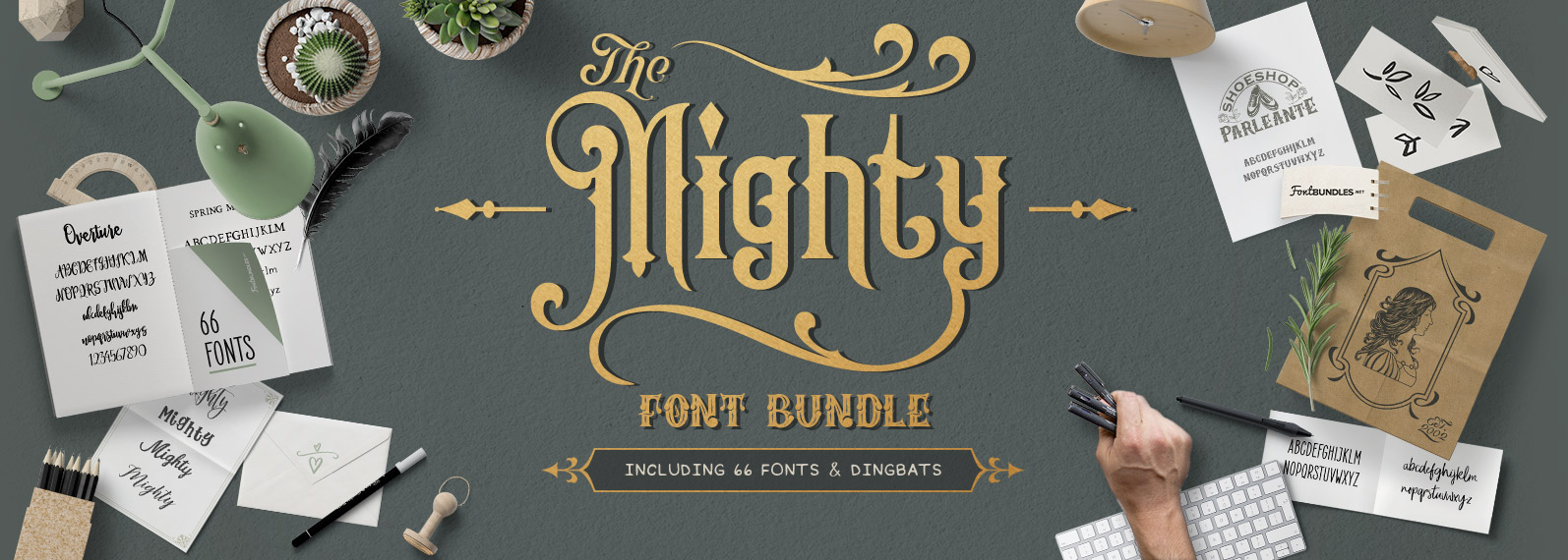 The Mighty Font Bundle Cover