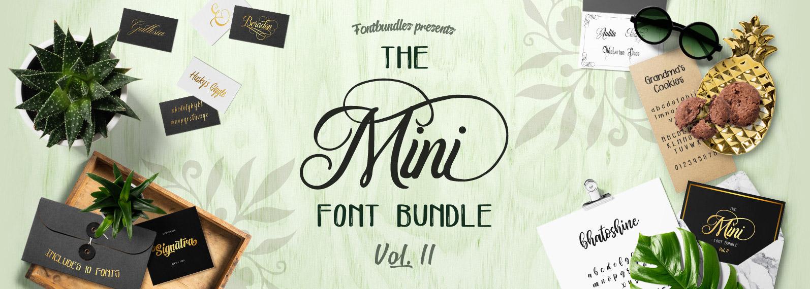 The Mini Font Bundle Volume II Cover