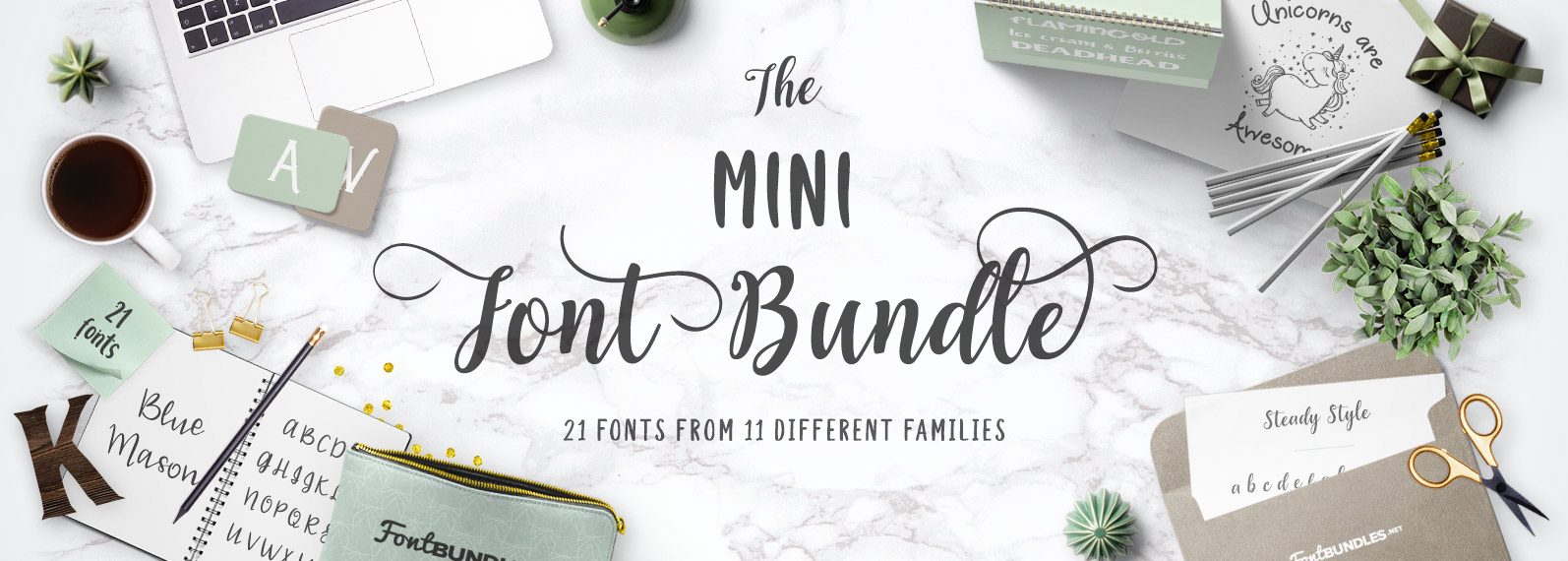 The Mini Font Bundle Cover