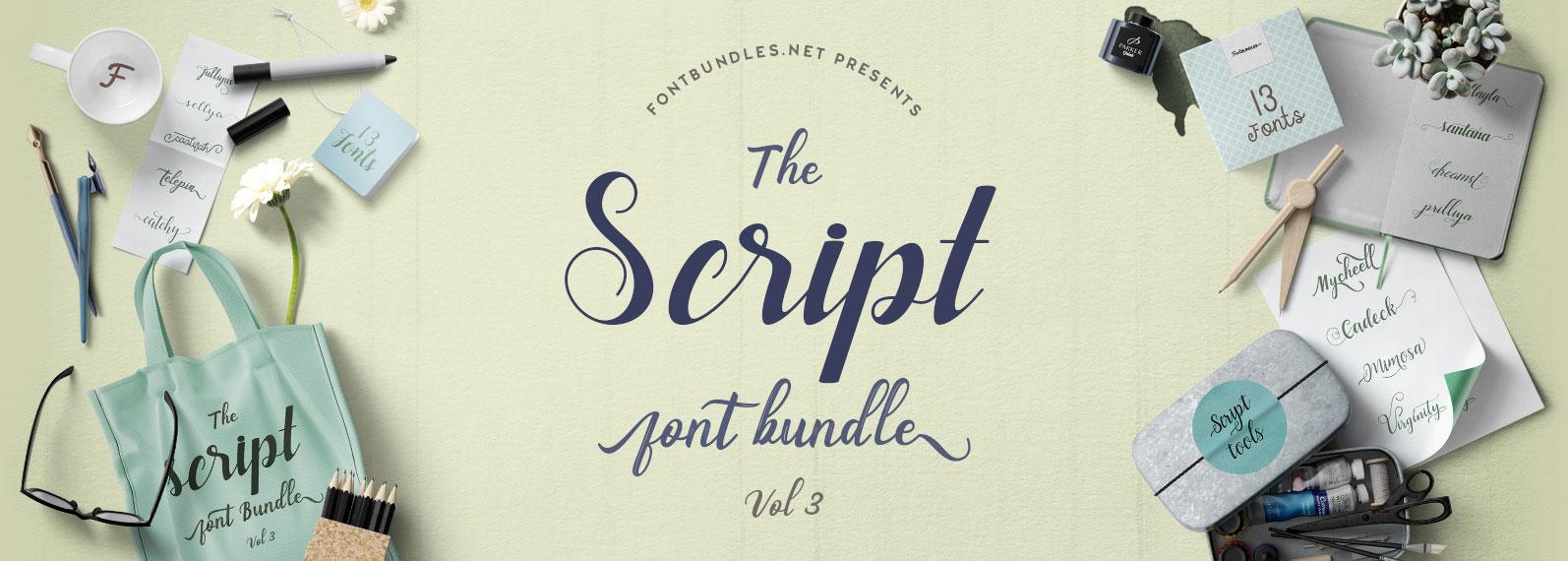 Script Font Bundle Vol III Cover