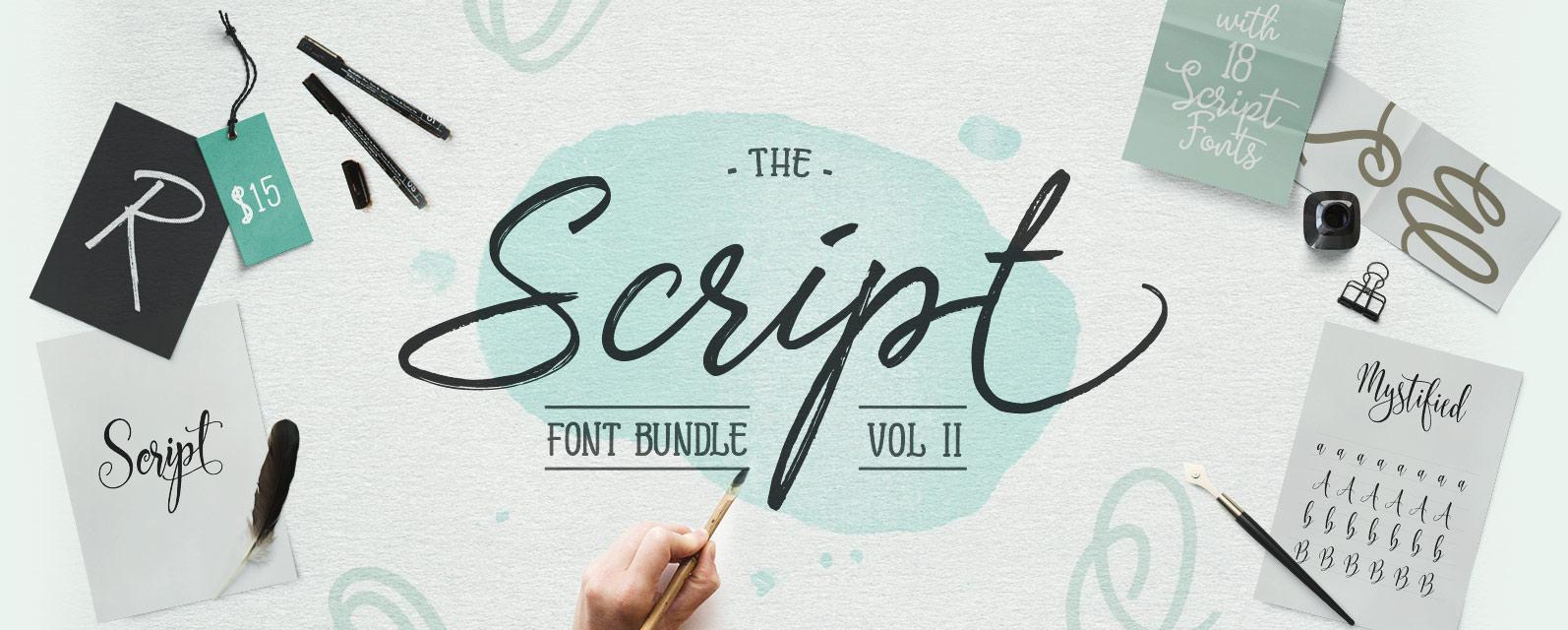 The Script Font Bundle Vol 2 Cover