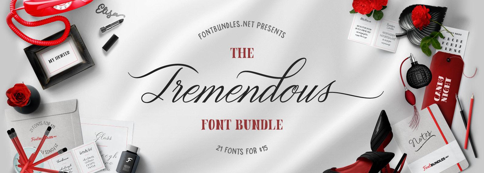 The Tremendous Font Bundle Cover