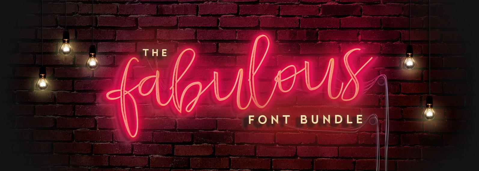 The Fabulous Font Bundle Cover