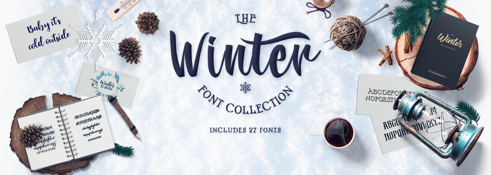 Winter Fonts Collection Cover