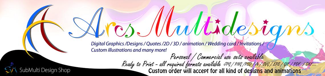 ArcsMultidesignsShop Profile Banner