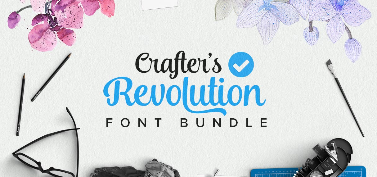 Crafters Revolution Font Bundle Cover