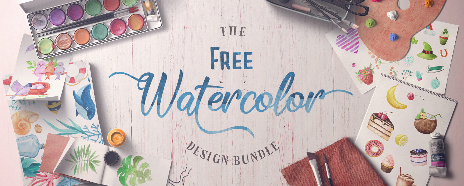 The Free Watercolor Bundle Cover