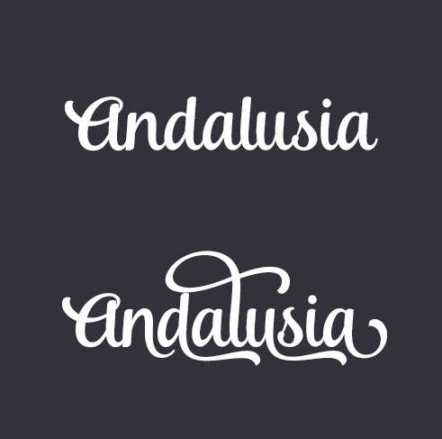 font swashes/swirles example