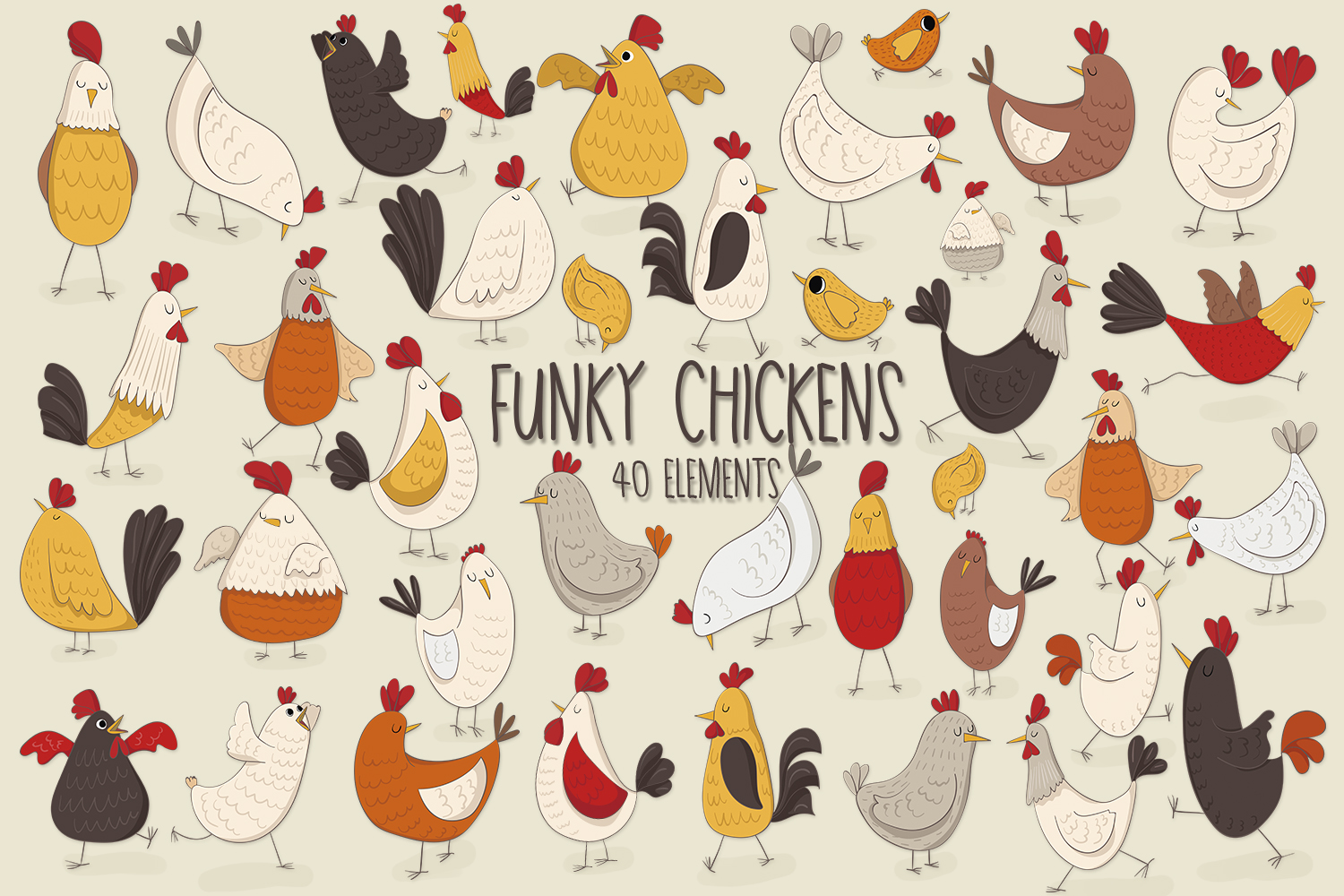 Funky Chickens example image 1
