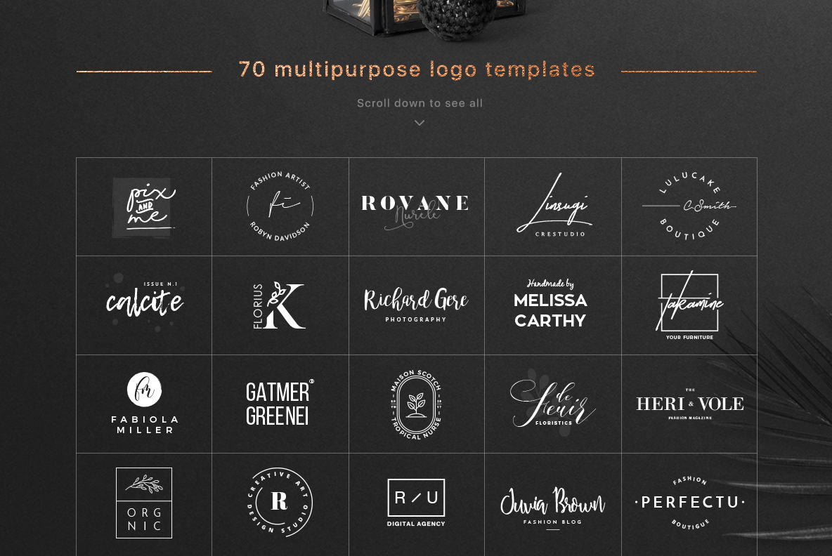 70 Elegant Logos (Extended License) example image 2