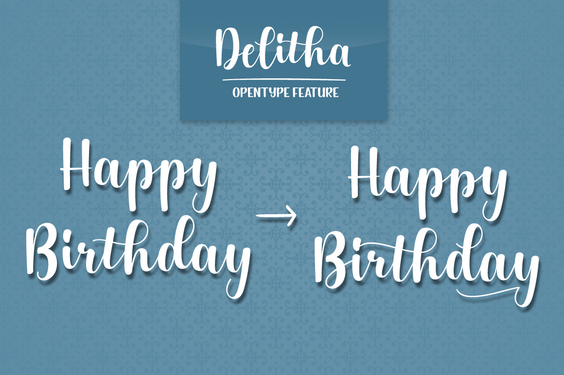 Delitha Font example image 5
