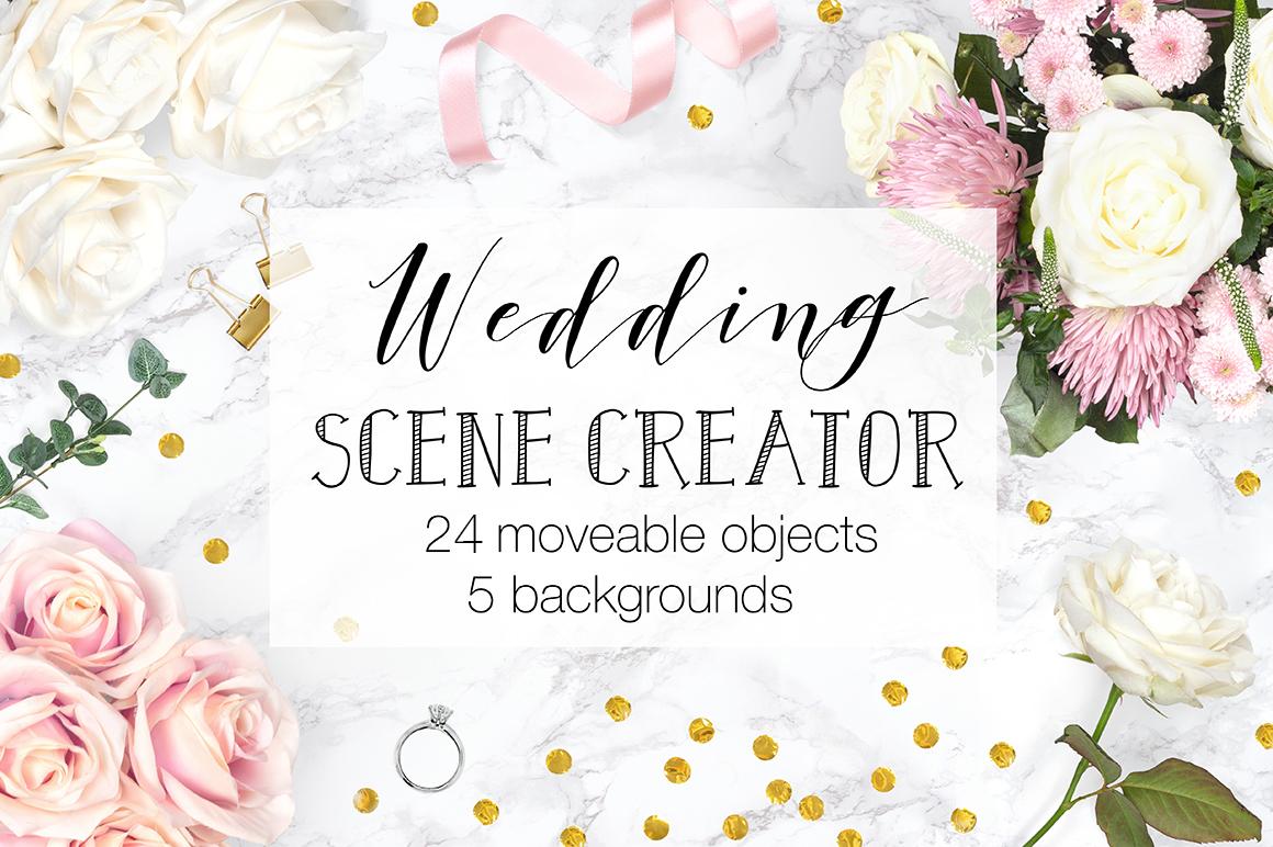 Wedding Scene Creator Top View - Movable Mockup example image 1