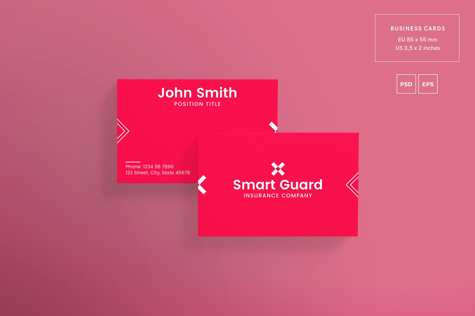 Insurance company business card design design bundles insurance company business card design templates kit example image 2 reheart Choice Image