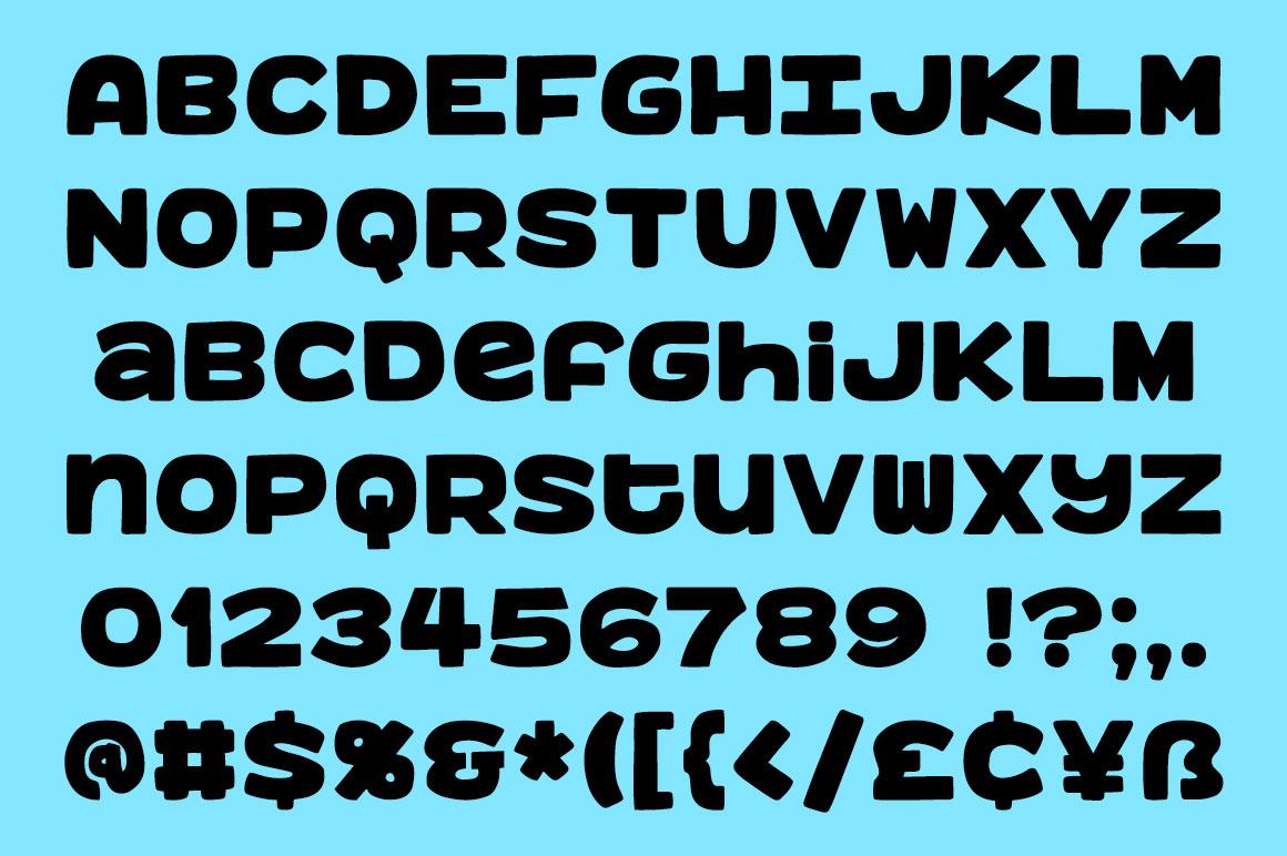 Benji: a bold, fun monospace font! example image 2