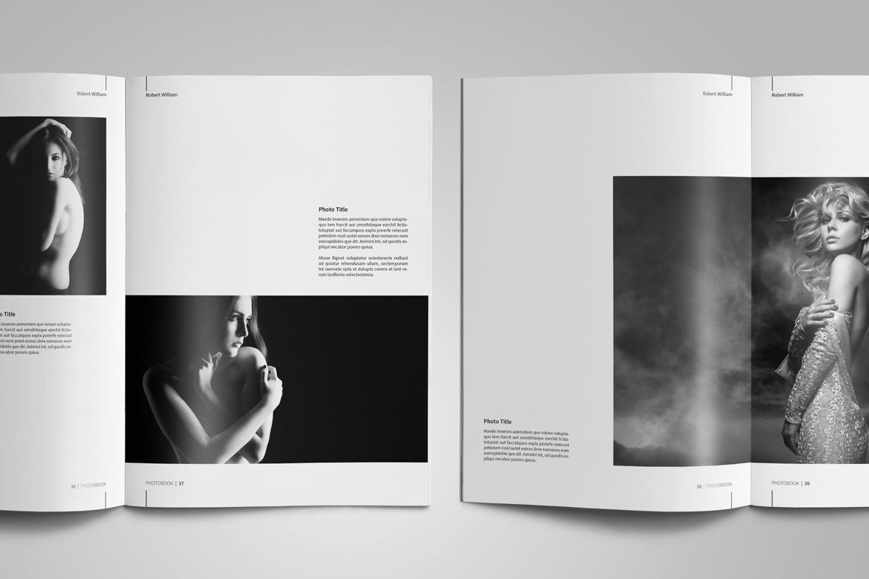 Photography Portfolio Template by tujuh   Design Bundles
