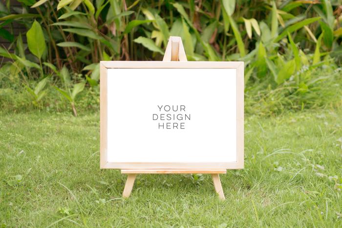 tropical summer mock up, summer mock up frame, summer wedding party frame, digital frame sign, landscape mock up, vertical mock up, PSD example image 5