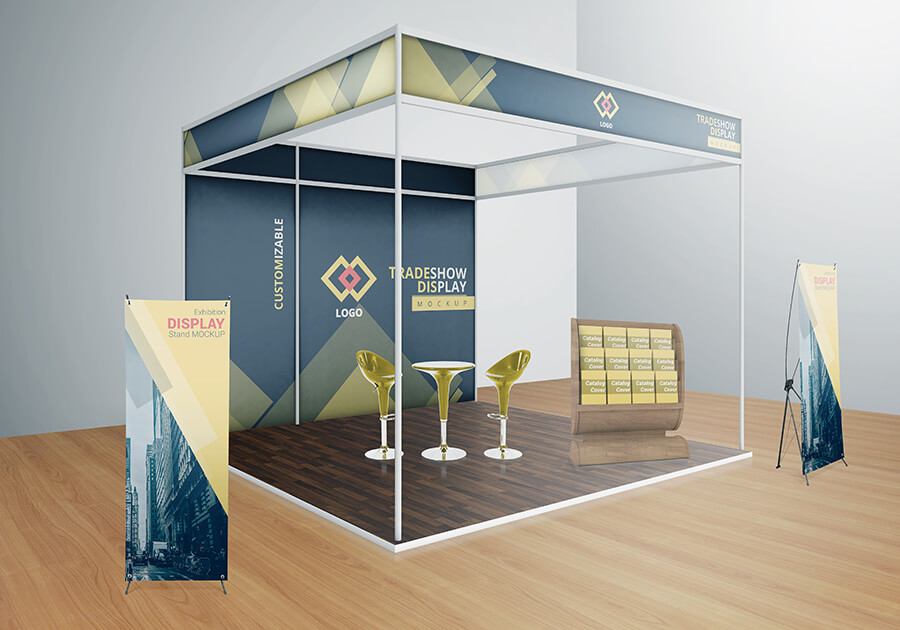 VARIOUS TRADESHOW EXHIBITION BOOTH MOCKUPS example image 8