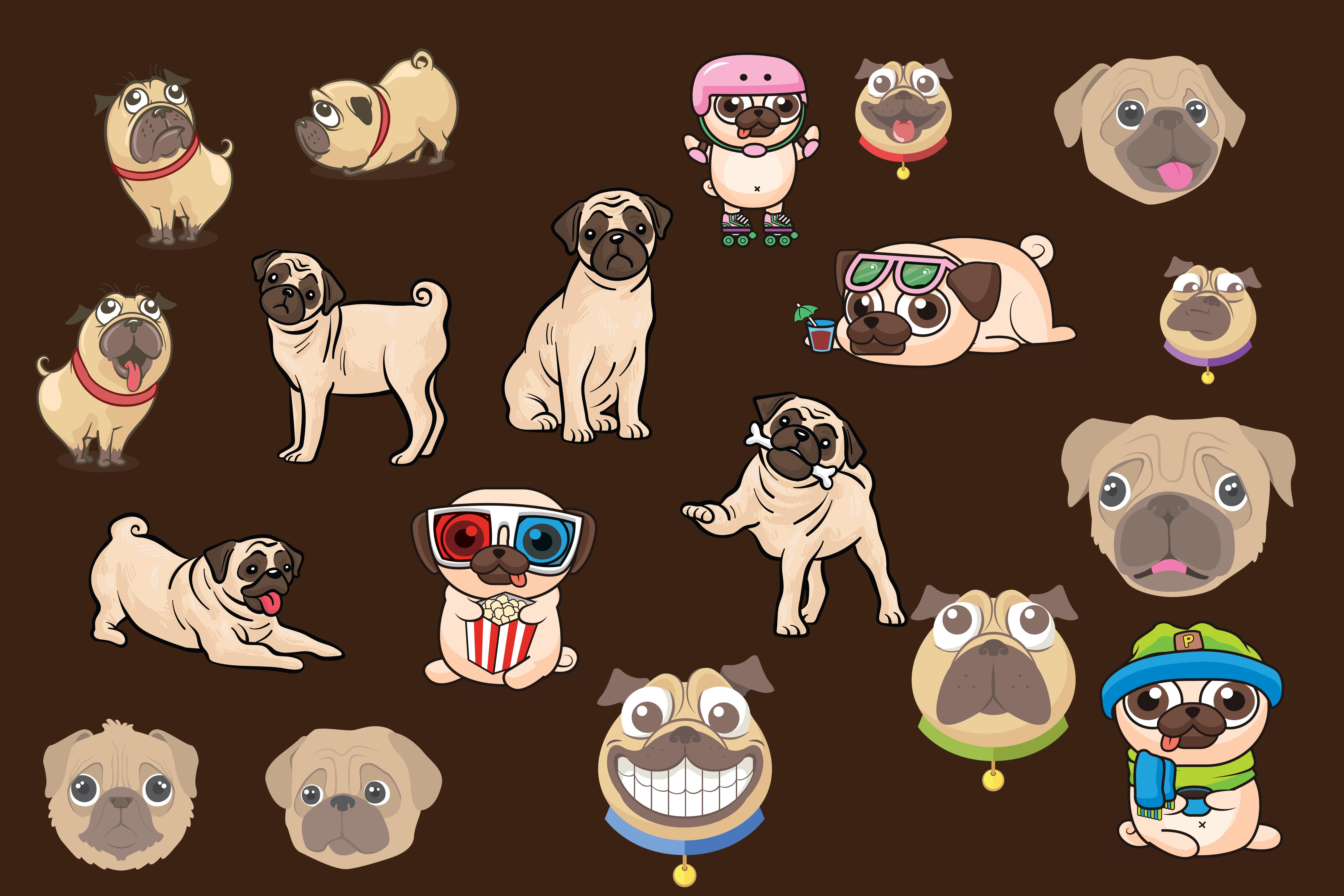 pugs,cute pugs,pug dogs,dogs,pug,animals,forest animals,wild animals,dog example image 4