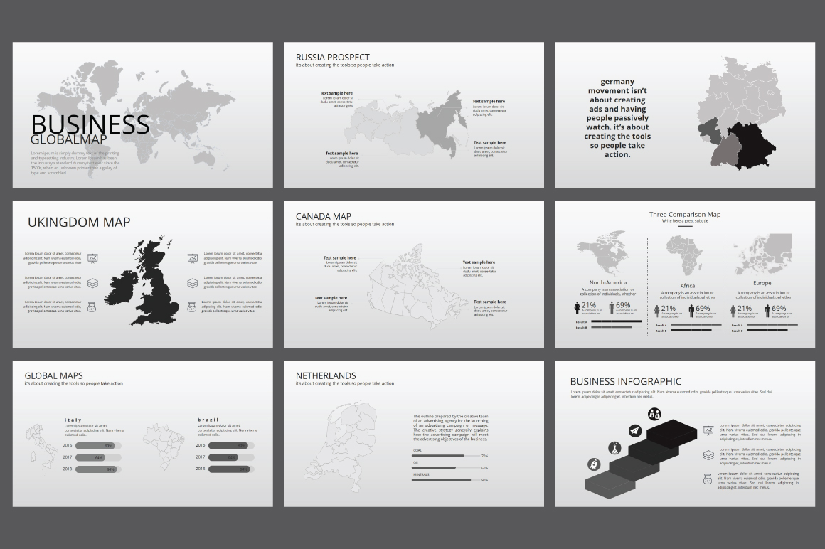 Hipster business Powerpoint Template by   Design Bundles