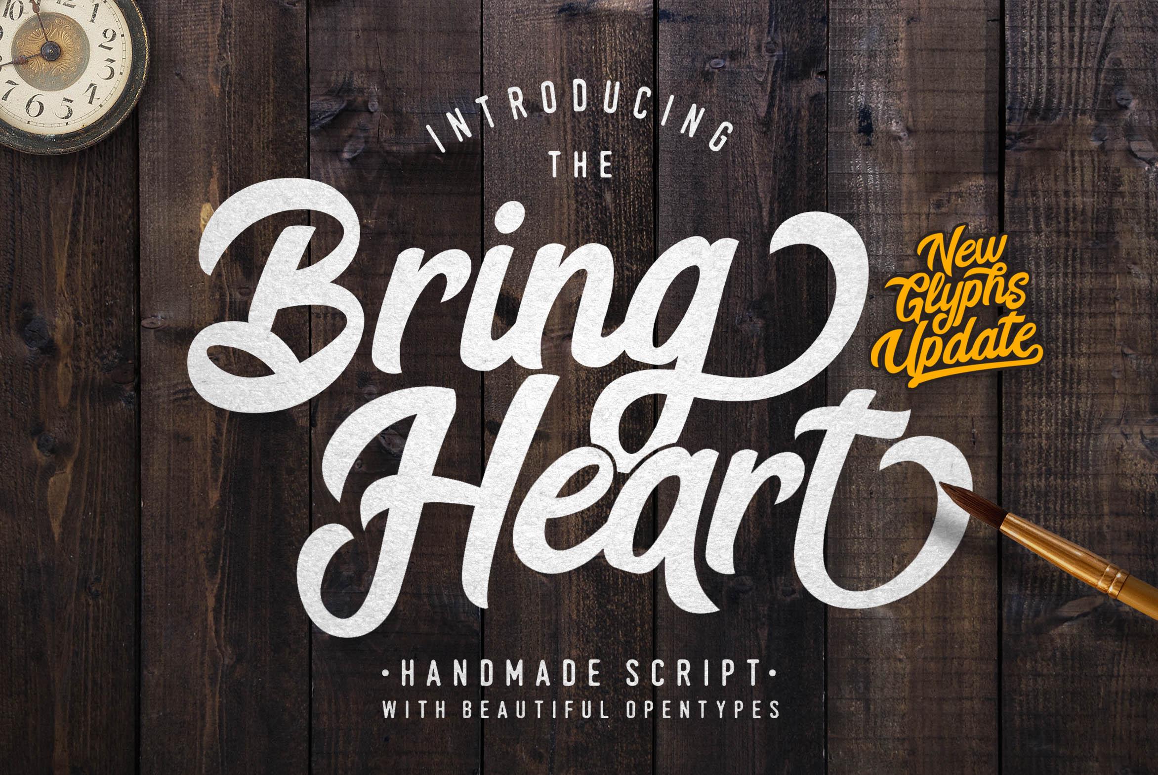 Bring Heart & Extras   Font Bundles
