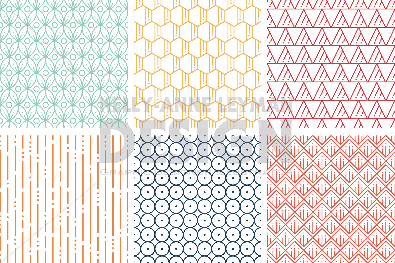 Geometric Digital Paper, Seamless Pattern, Scrapbook Paper, Digital Paper Pack,