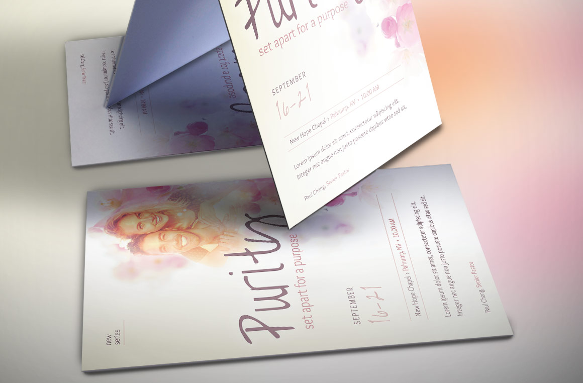 Purity Church Flyer Template by Godserv | Design Bundles