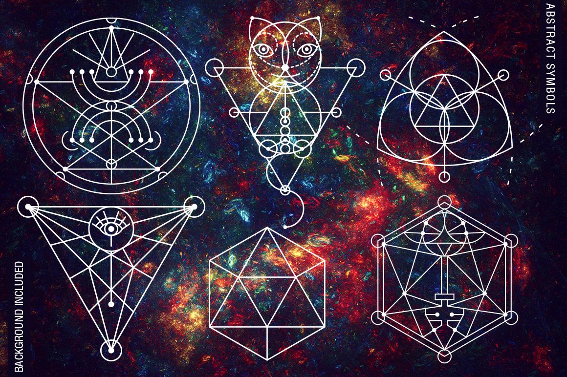 100 Sacred Geometry Symbols  example image 7