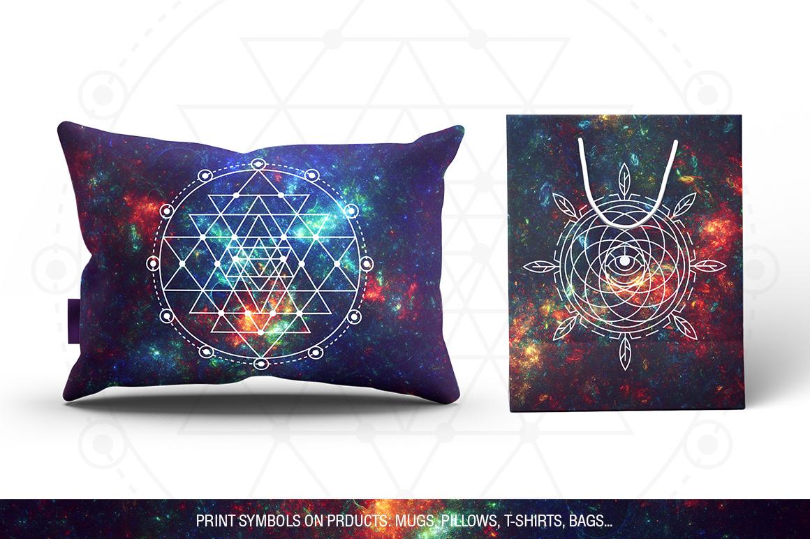 100 Sacred Geometry Symbols  example image 27