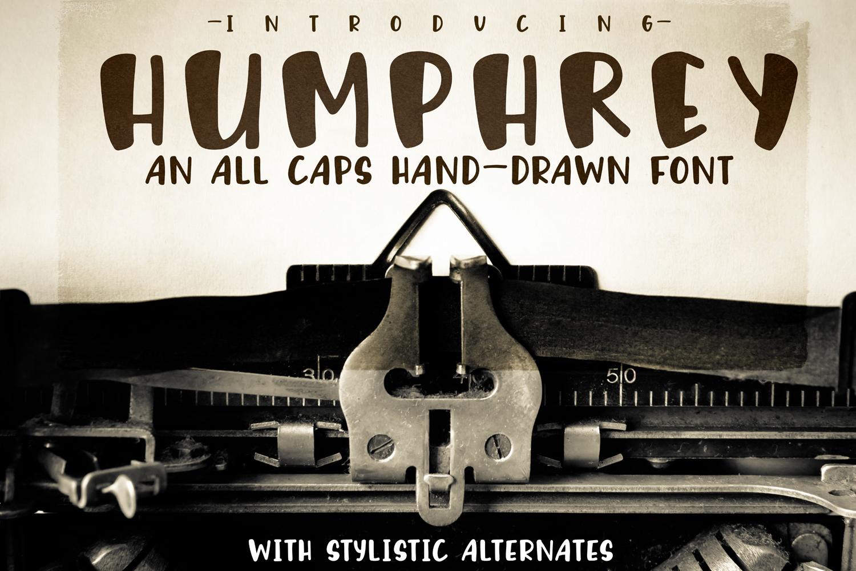 Humphrey Handwritten Font example image 1