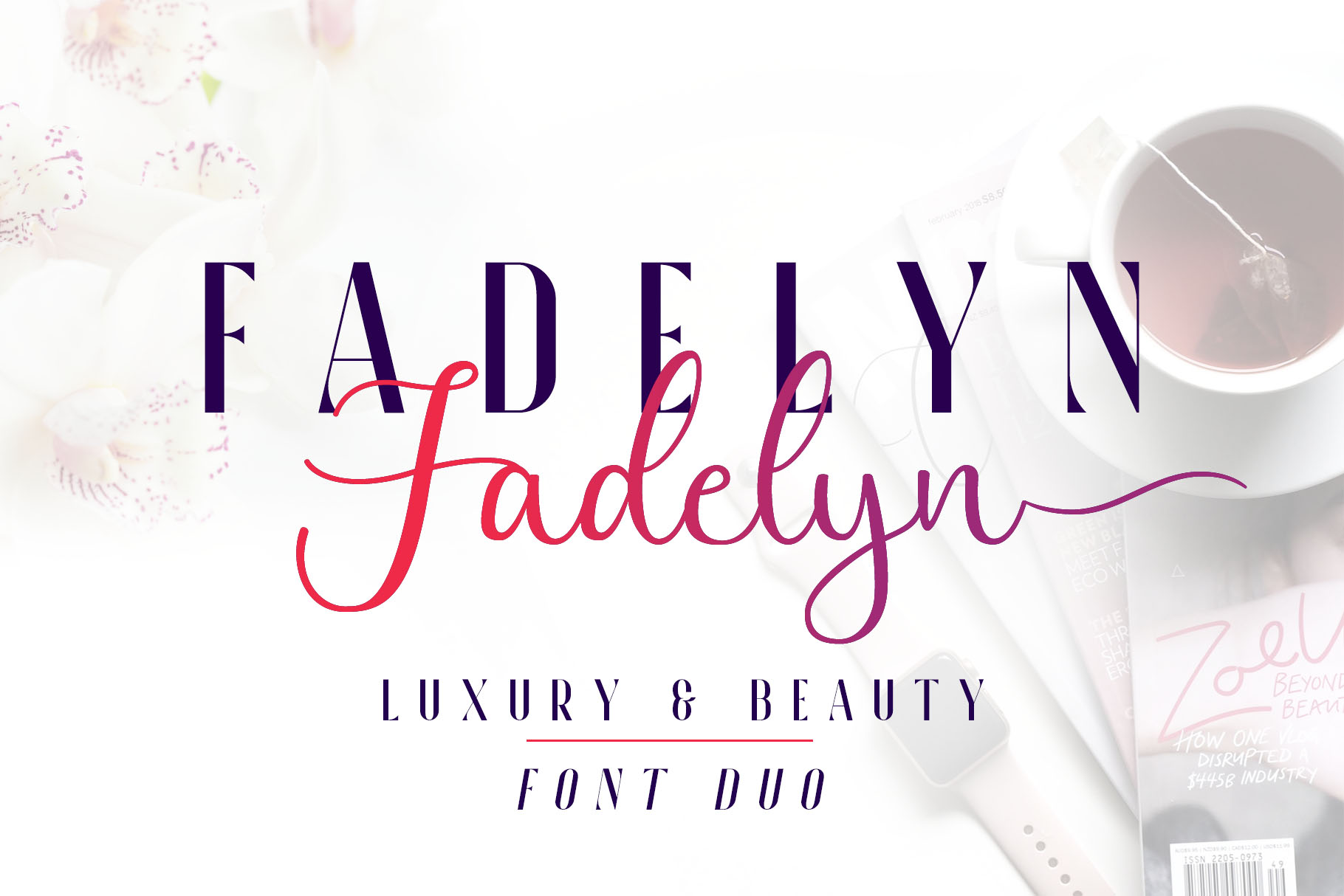 Fadelyn - Font Duo example image 9