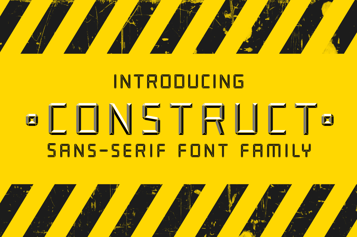 Construct family font example image 1