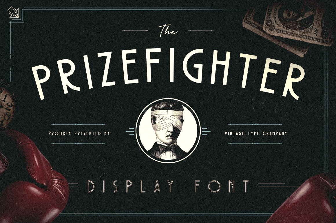 Prizefighter Display Font example image 1