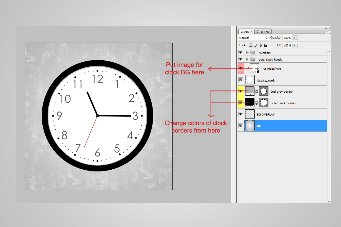 Wall clock mockup round by aivos design bundles wall clock mockup round example image 4 ccuart Image collections