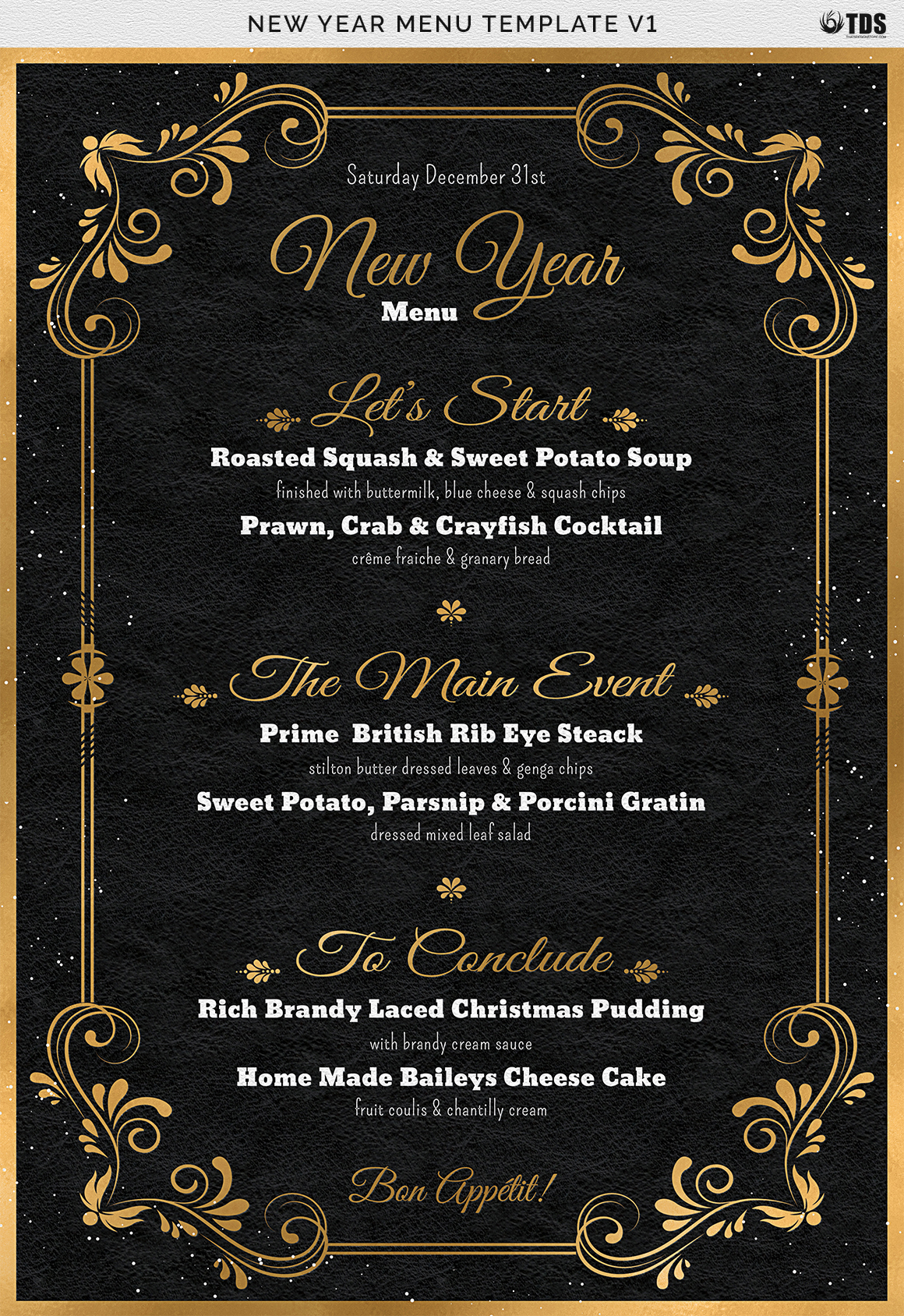 New Year Menu Template V1 example image 14