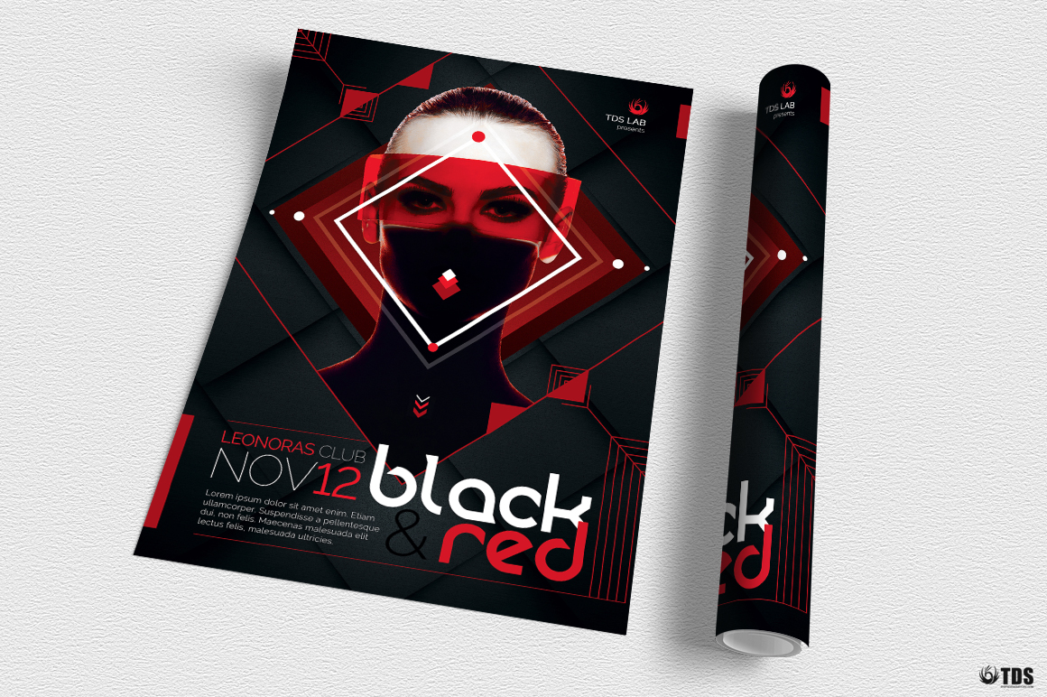 Black and Red Flyer Template V4 example image 3