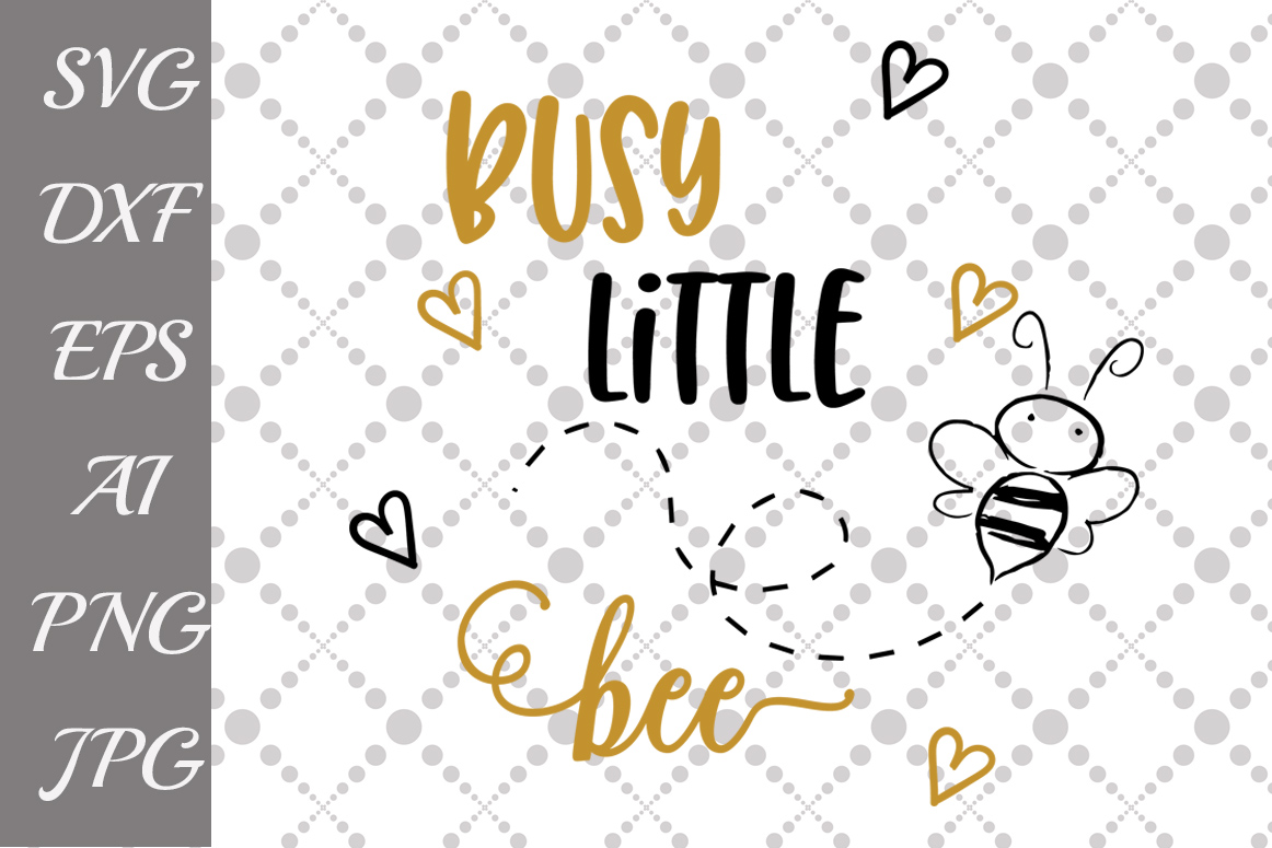 Busy Little bee Svg example image 1
