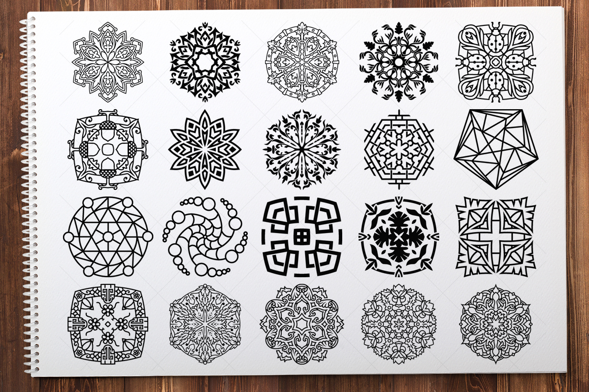 500 Vector Mandala Ornaments example image 7