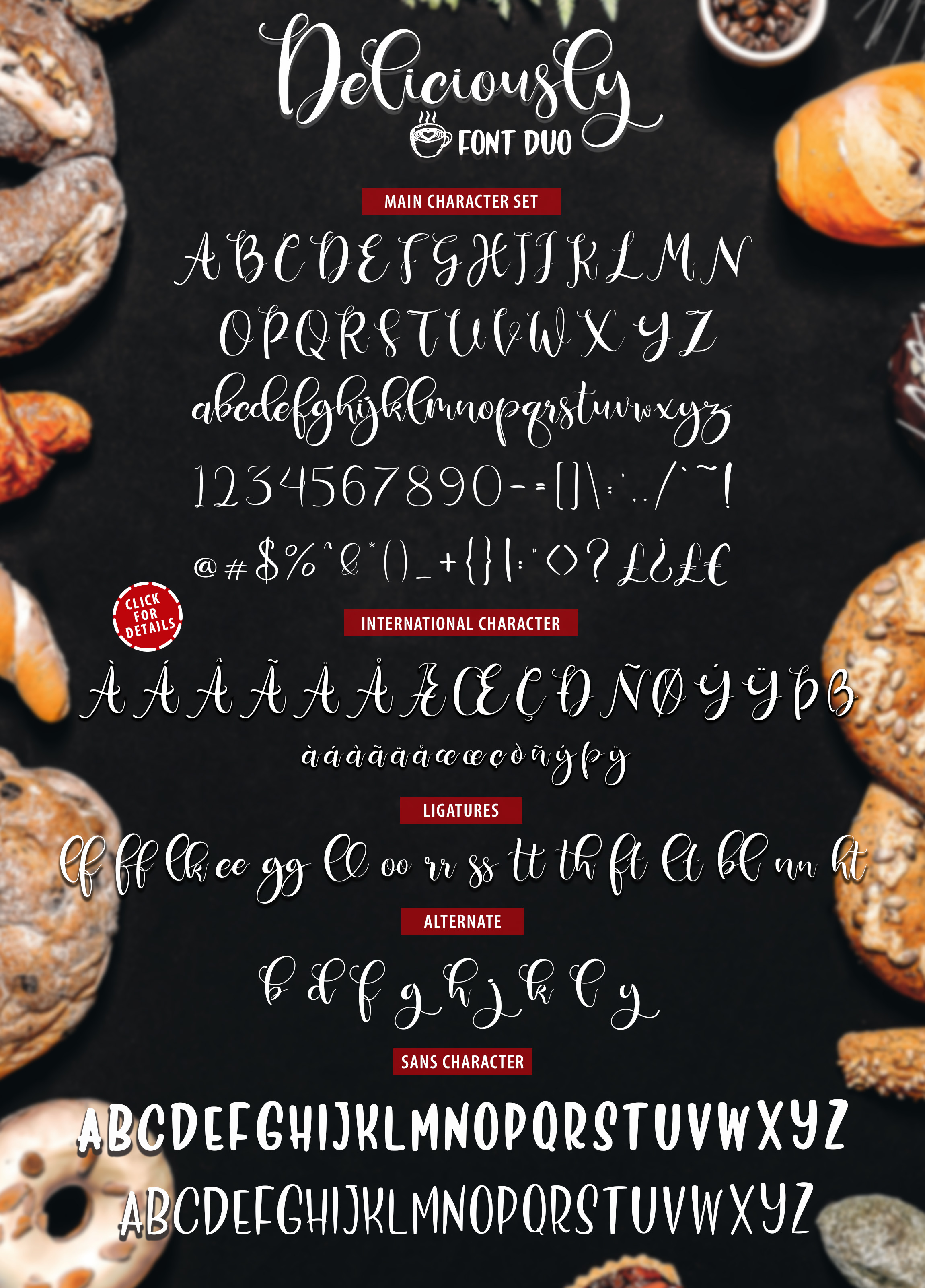 Deliciously Font Duo + Extras example image 11