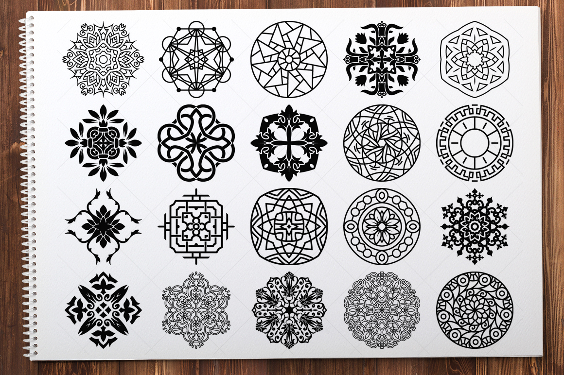 500 Vector Mandala Ornaments example image 5